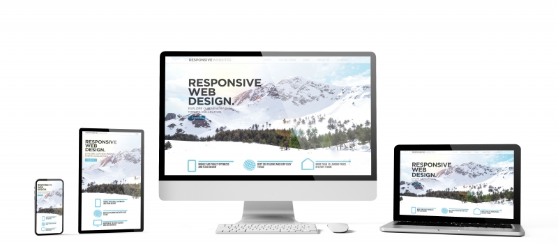 responsive devices isolated responsive design homepage mountain